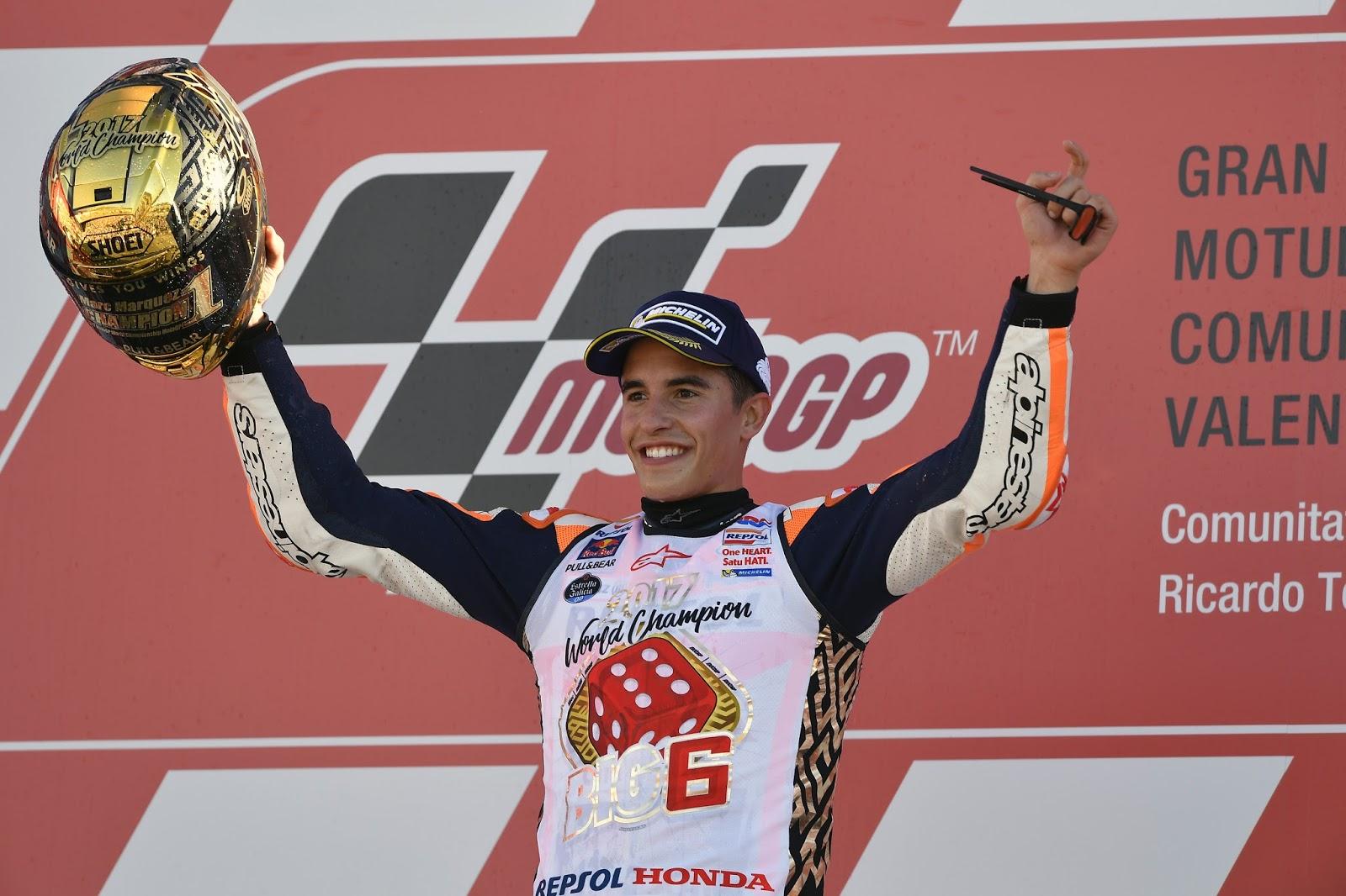 2ο συνεχόμενο Πρωτάθλημα Αναβατών MotoGP για τον Marc Marquez