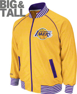 Big and Tall Los Angeles Lakers Golden Yellow Jacket
