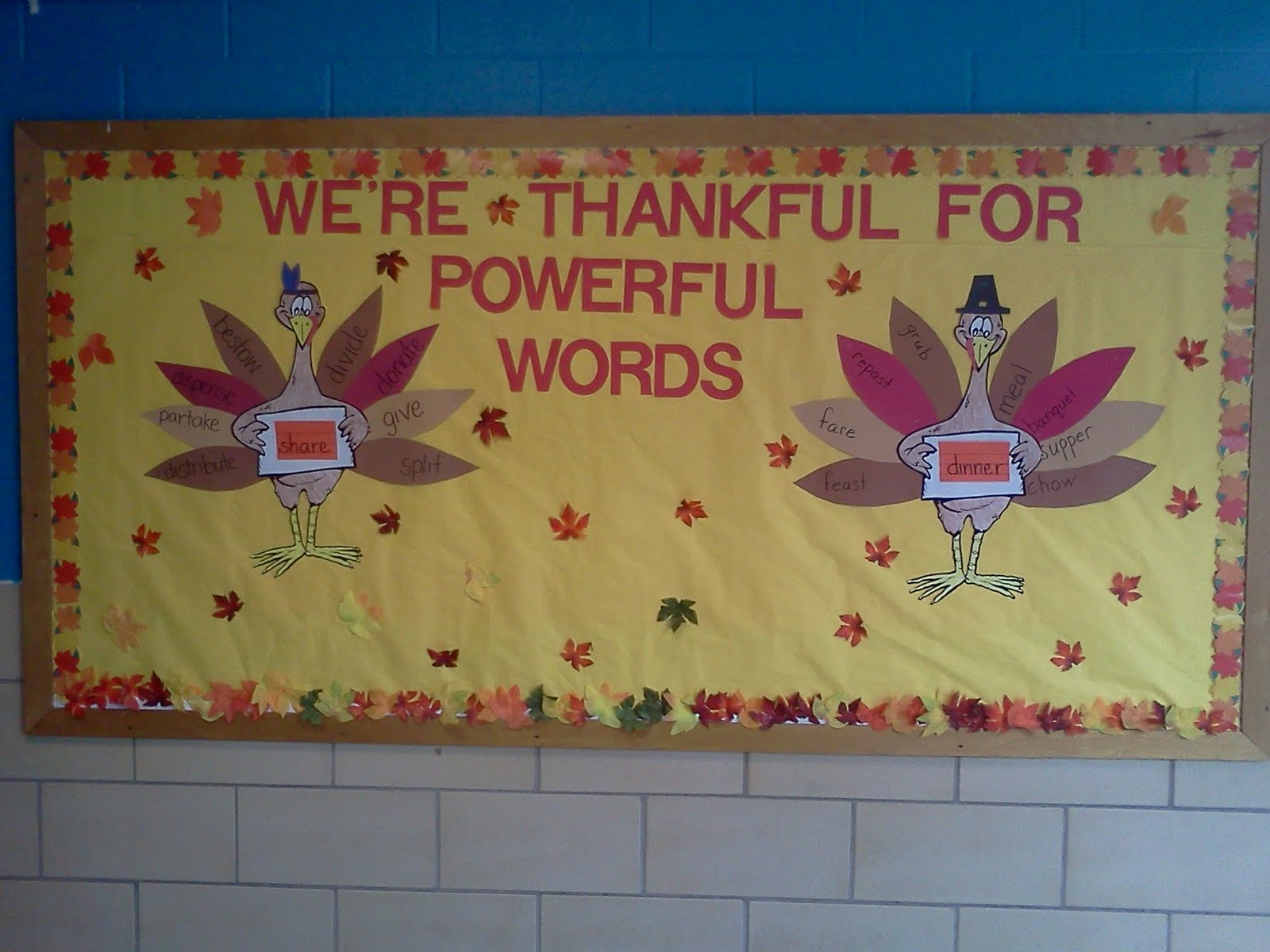 The Esol Odyssey More Bulletin Board Fun Thanksgiving Style