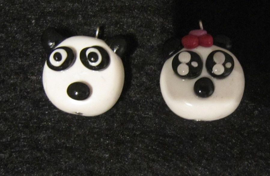 bijoux de cr ation en p te fimo mod les de panda en p te fimo. Black Bedroom Furniture Sets. Home Design Ideas