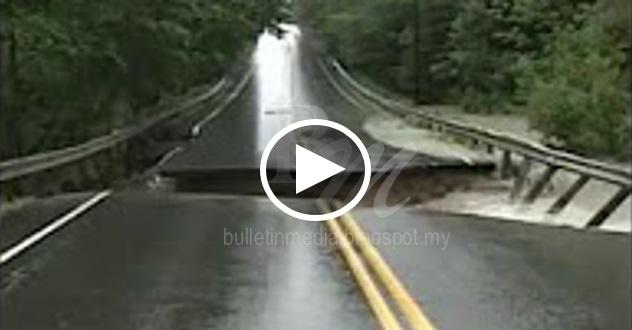 [VIDEO] Lelaki lalu jambatan ni.. rasa macam tidak betul!! Dia pakai kamera rakamkan keadaan ni.. akhirnya apa yang berlaku buat dia rasa terkejut!!