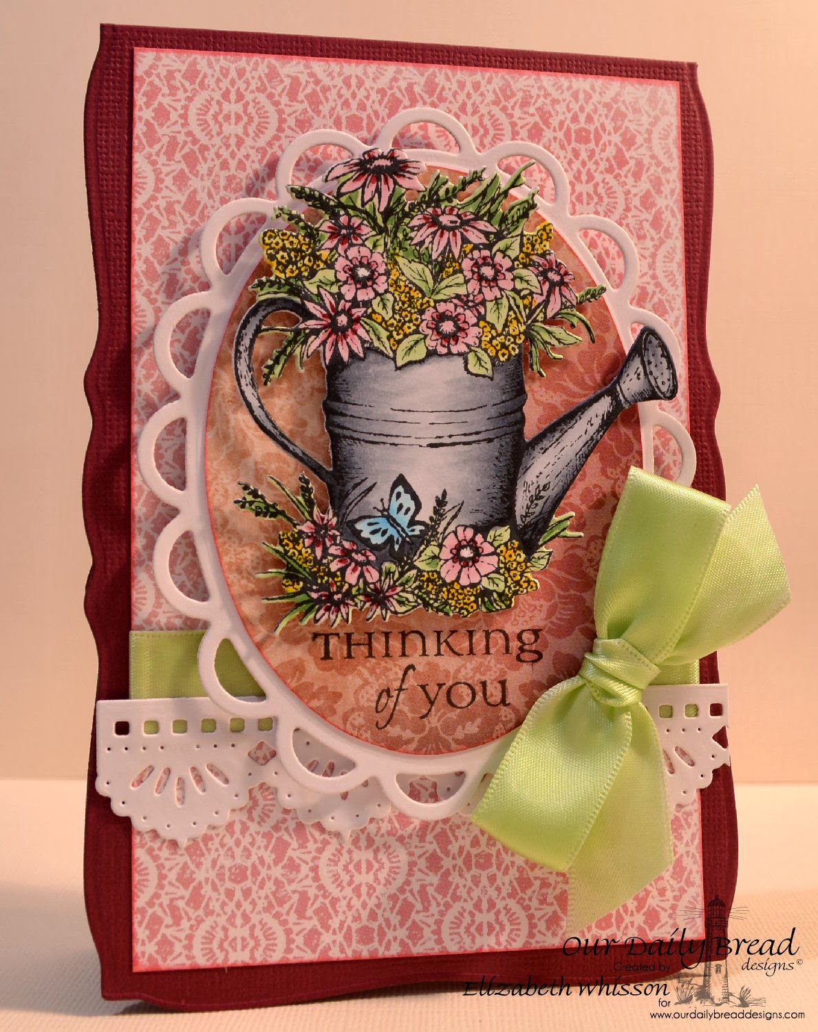 Our Daily Bread Designs, Elizabeth Whisson, Watering Can, All Occasion Sentiments, ODBD Custom Watering Can Die, ODBD Custom Beautiful Borders Dies, ODBD Heart and Soul Collection