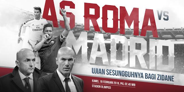 Prediksi Sepakbola Liga Champions | AS Roma vs Real Madrid