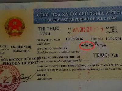 ベトナムの3ヶ月ビザ