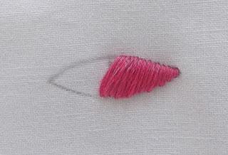 slanted, stitch, satin
