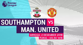 Prediksi Southampton vs Manchester United 2 Desember 2018