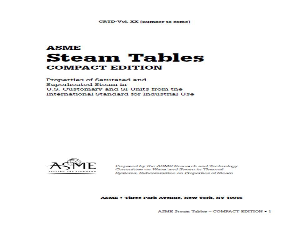 Steam Table Pdf
