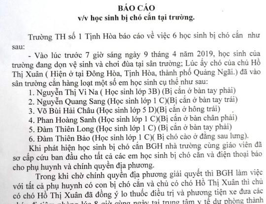 Quảng Ngãi Chó thả rông xông vào trường cắn 6 học sinh nhập viện