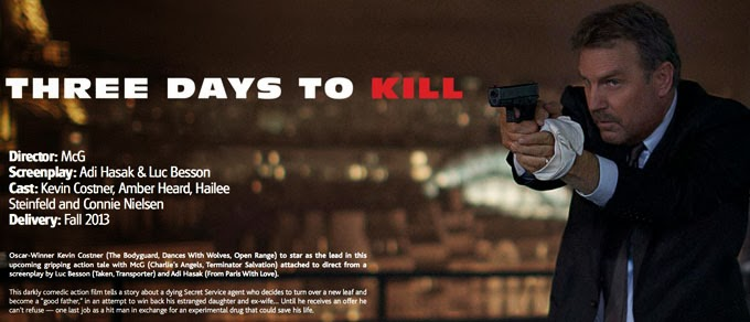 three days to kill film actu film. Black Bedroom Furniture Sets. Home Design Ideas