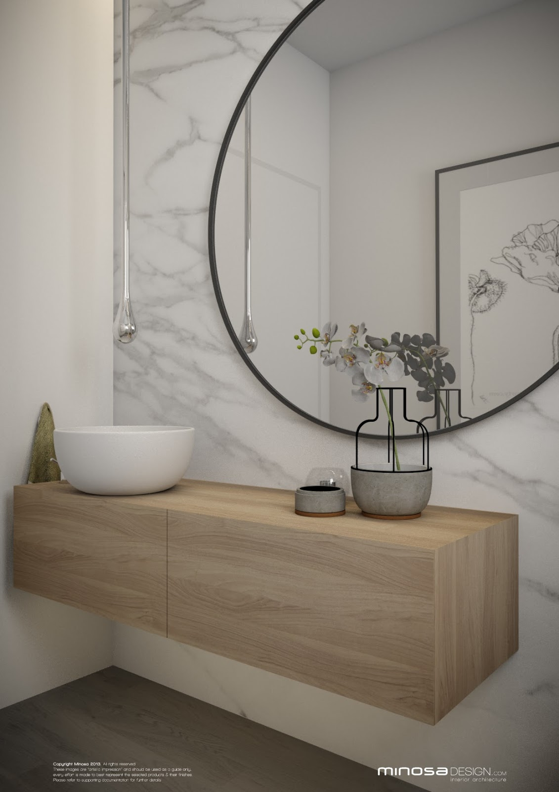Minosa: Powder Room - The WOW bathroom