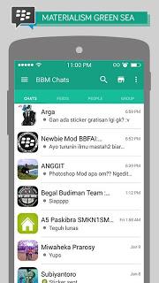 Apps BBM Mod Material Design Ver. 2.11.0.18 APK