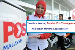 Pejabat Pos Terengganu Jawatan Kosong