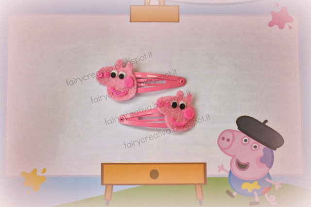 077d90f5e8 Fairy Creativa: Peppa Pig di feltro - felt Peppa Pig