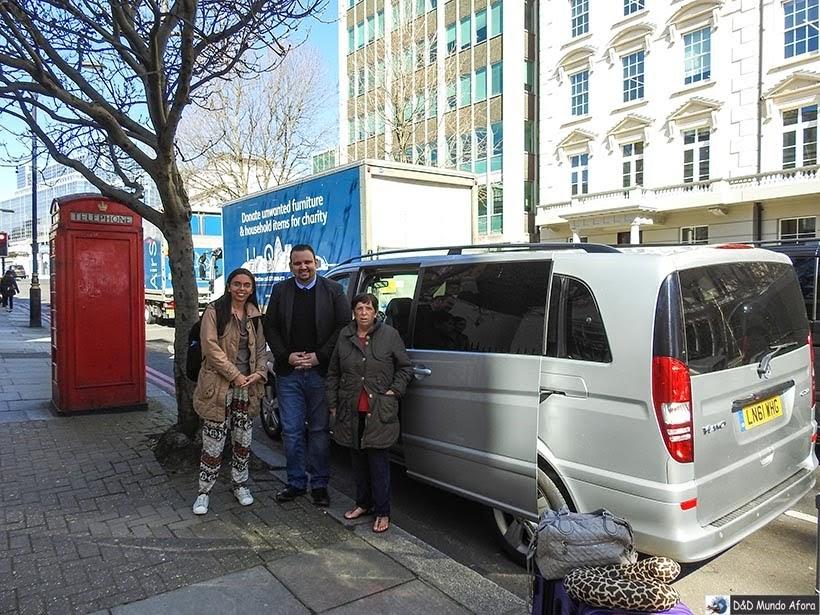 Transfer em Londres em português: Chofer em Londres