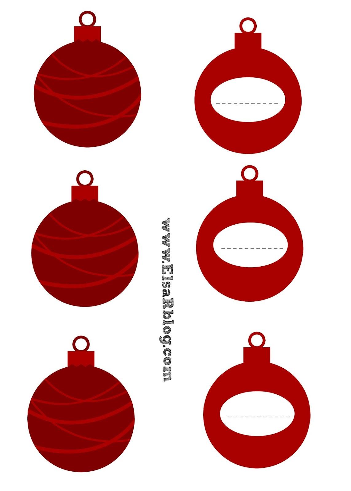 Print: Druk op de foto,download en print A4Kerstballen naamkaartjesElsaRbloguit.