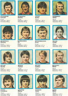 Steaua Bucurest 1986 stickers