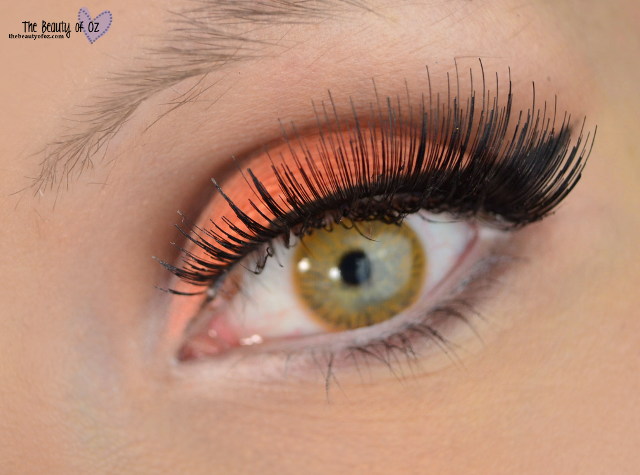 Orange Cut Crease Makeup