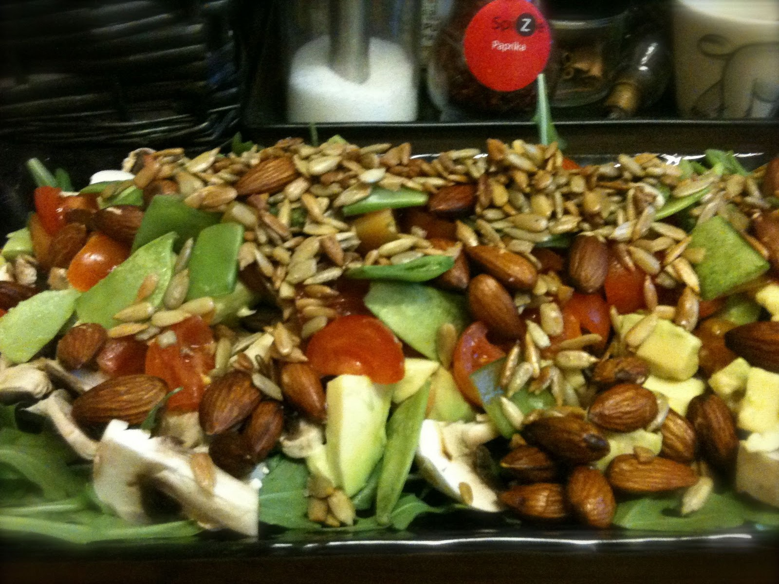ristede mandler til salat