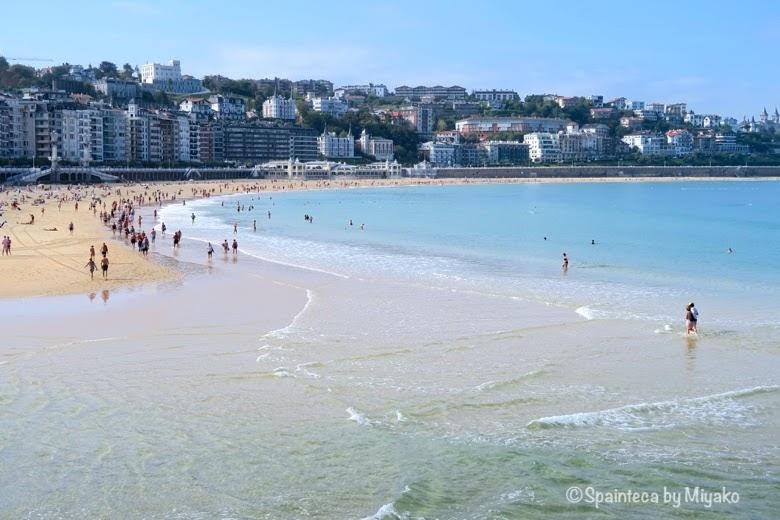 サン·セバスティアンの美しいコンチャビーチ La Concha, Donostia-San Sebastián
