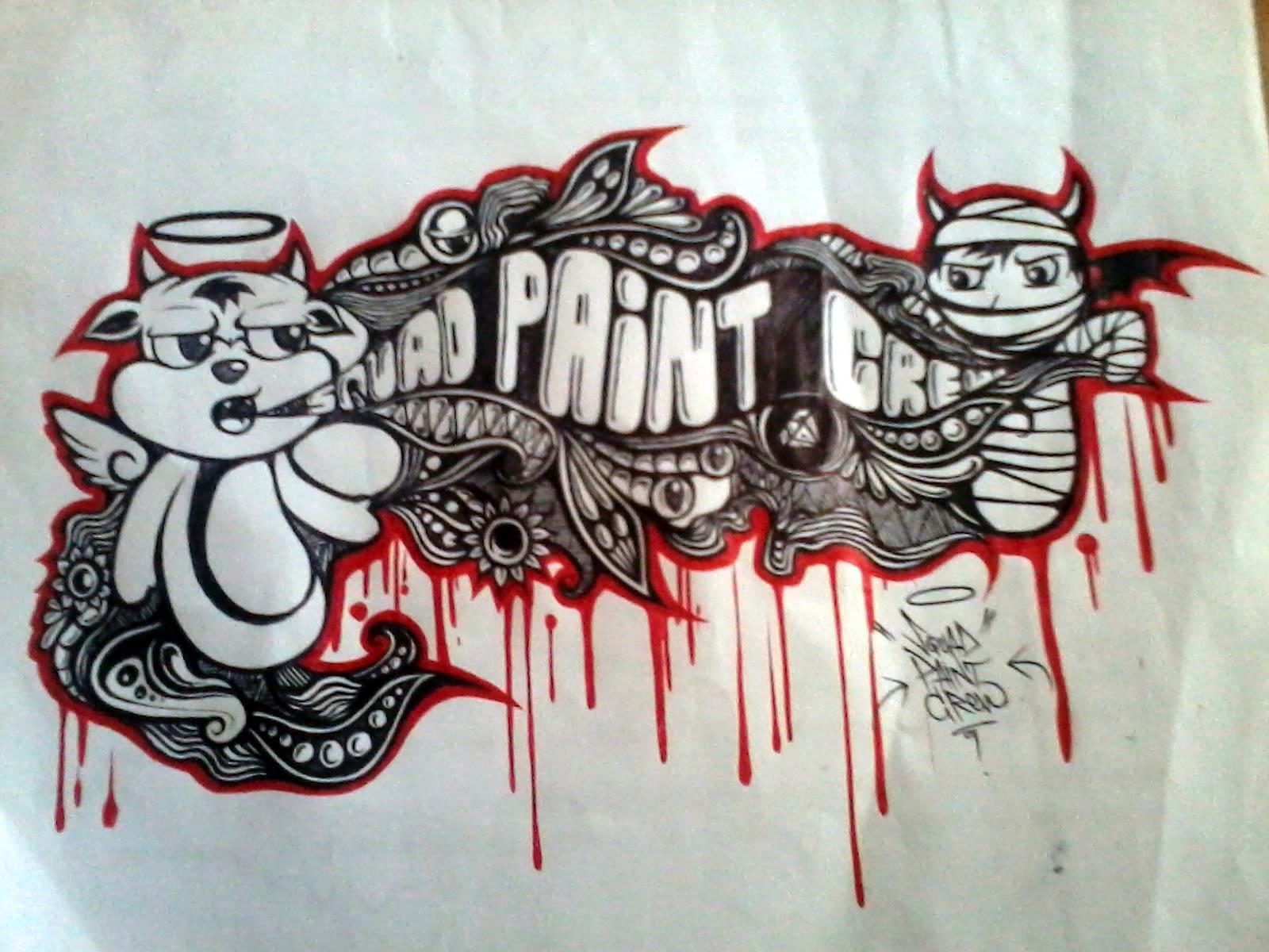 Gambar grafiti 3d di kertas terbaru