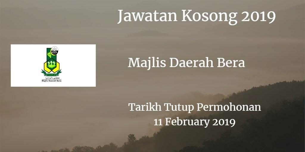 Jawatan Kosong MDB 11 February 2019