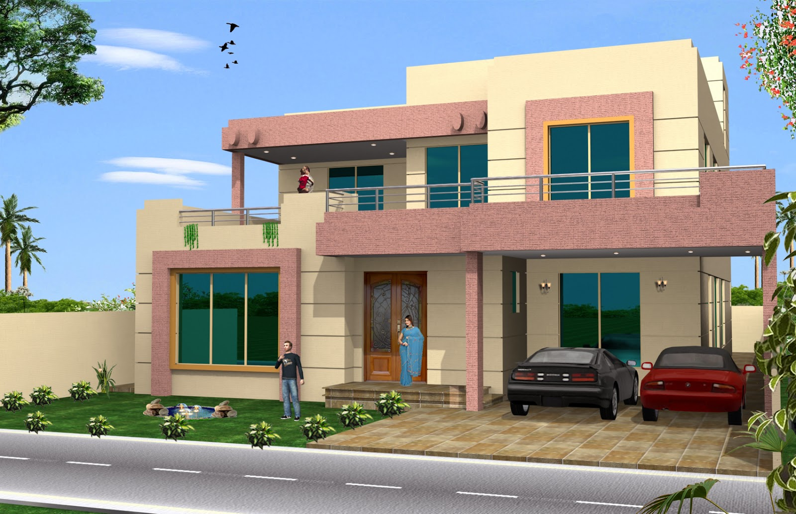 3d front 1 kkanal old design convert to - What is a contemporary home ...