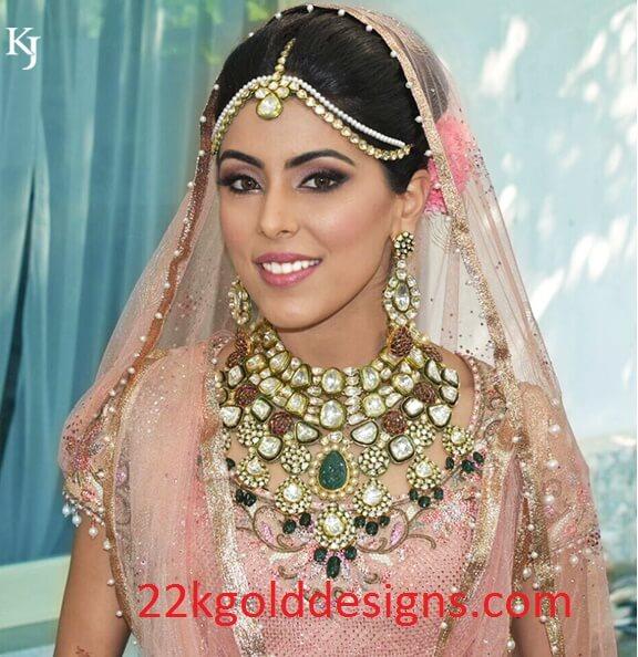 North Indian Bride in her Wedding Jewellery