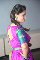 Shilpa Chakravarthy in Purple tight Ethnic Dress ~  Exclusive Celebrities Galleries 018.JPG