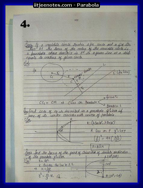 parabola notes4