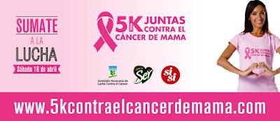 5k Contra el cáncer de mama (Canteras del parque Rodó, Montevideo, 07/may/2016)