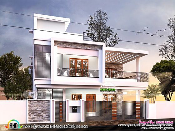 Duplex contemporary house plan