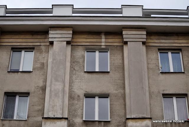 Warszawa Mokotów Wierzbno kamienice socreal bloki wille zabytek