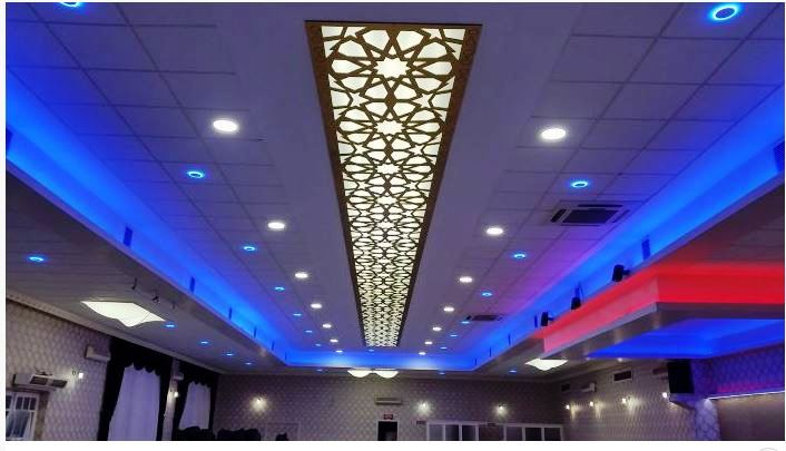 Luxury 42 CNC false ceiling design with LED 2018