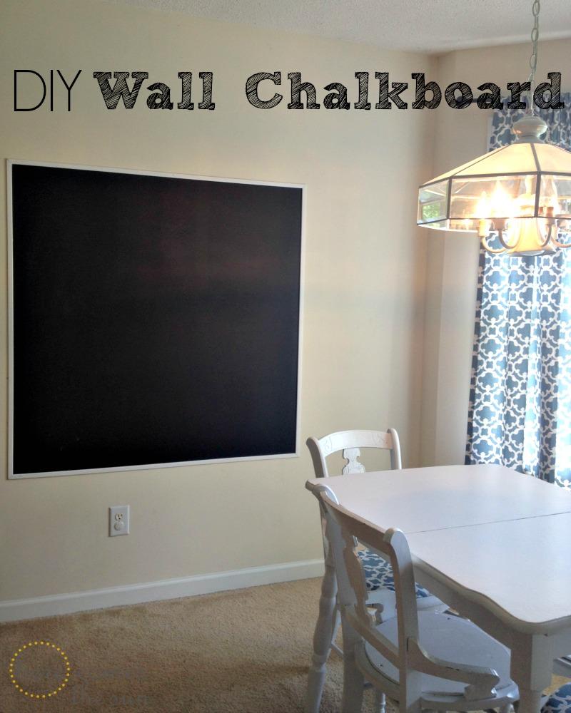 DIY Wall Chalkboard | Here Comes The Sun