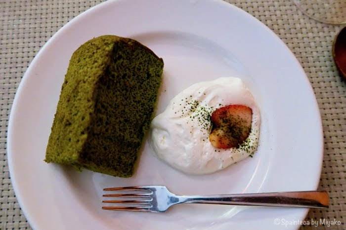 マドリードの抹茶シフォンケーキ