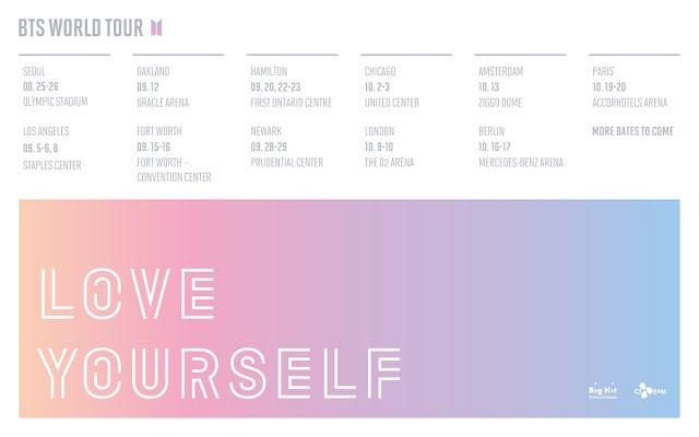 [TOUR] BTS 방탄소년단 en Europa concierto tour WORLD TOUR LOVE YOURSELF