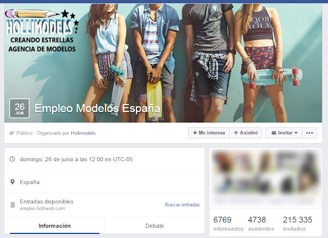 casting modelos estafa Hollimodels