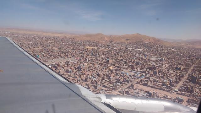 Juliaca, Perú desde el avión