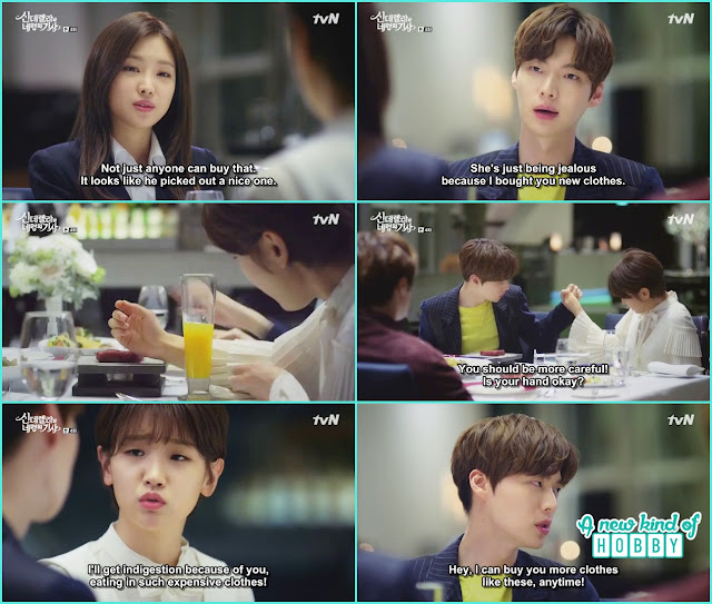 hyun min, ha won, hye ji and ji woon together for dinner - Cinderella and Four Knights - Episode 4 Review