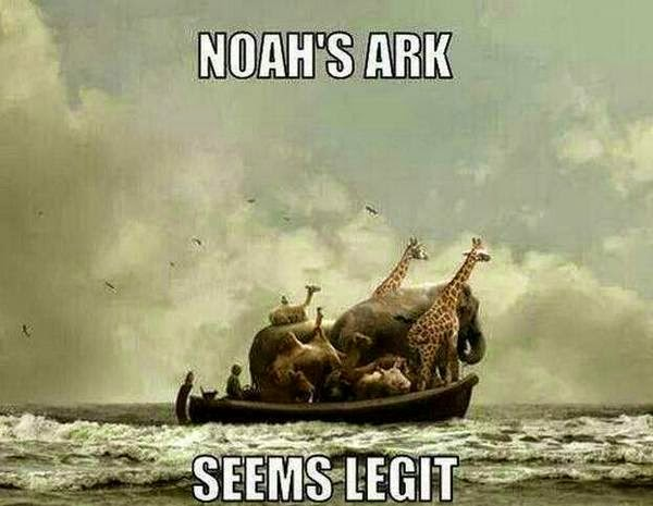 Funny noah's ark - seems legit joke picture