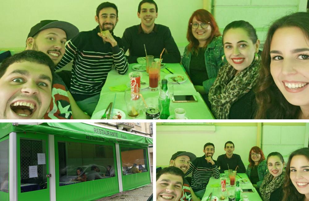 Oásis + restaurante vegetariano + refeição vegan + amigos + comida barata + saudável + blogue ela e ele + ela e ele + pedro e telma