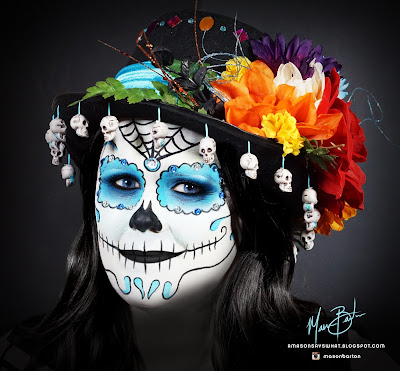 Day of the Dead Makeup - Teal color