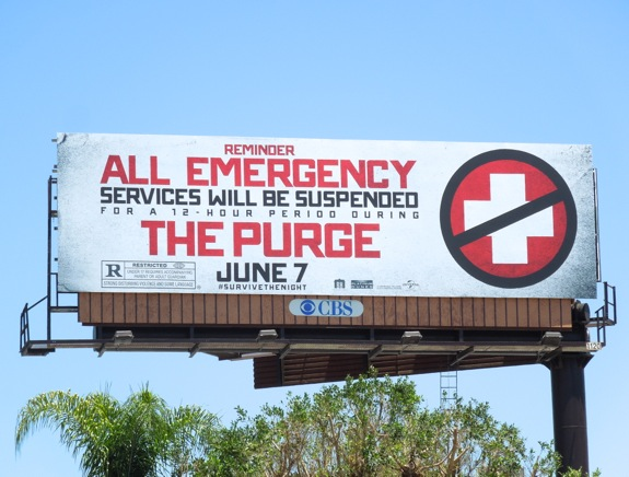 Purge movie teaser billboard