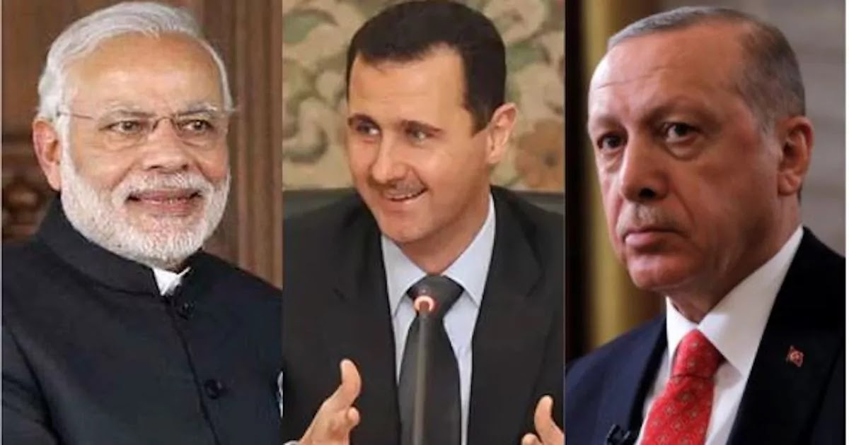 India Is Set To Rebuild Syria, While Turkey Is Believed To Be Financing Islamic Extremist Groups In The Country