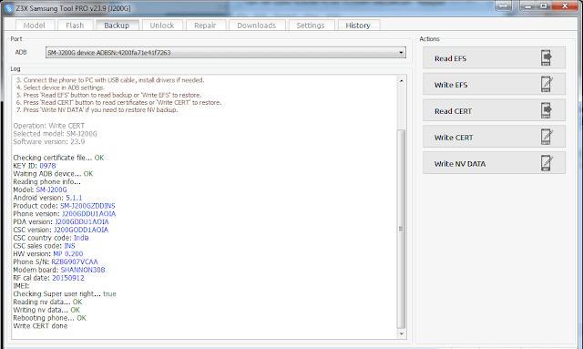 ملفات EFS+Cert+Pit+Recovery+Boot+SBoot لجهاز Grand Prime SM