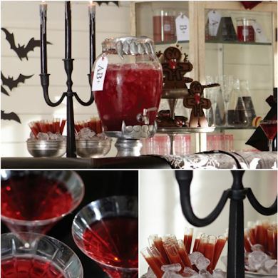 Halloween Vampire Blood Bar Cocktail Recipes