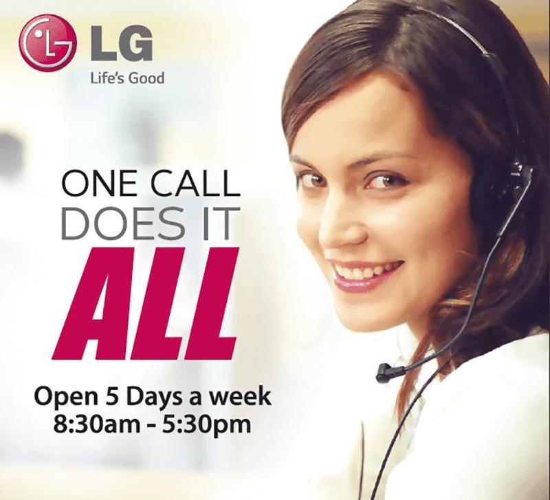 LG announces new customer service method