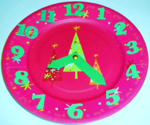 Learning Ideas Grades K 8 Christmas Time Fun Paper Plate Clocks