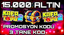 Online Kafa Topu 2 Yeni 3x Promo Kodu (15.000 Altın) Şubat 2019