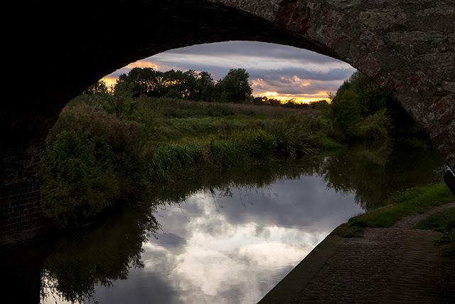 Sunset under the arches